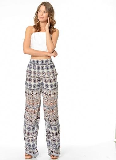 Vero Moda Vero Moda 10155945 Viskos Kar ı Kadın Pantolon Beyaz